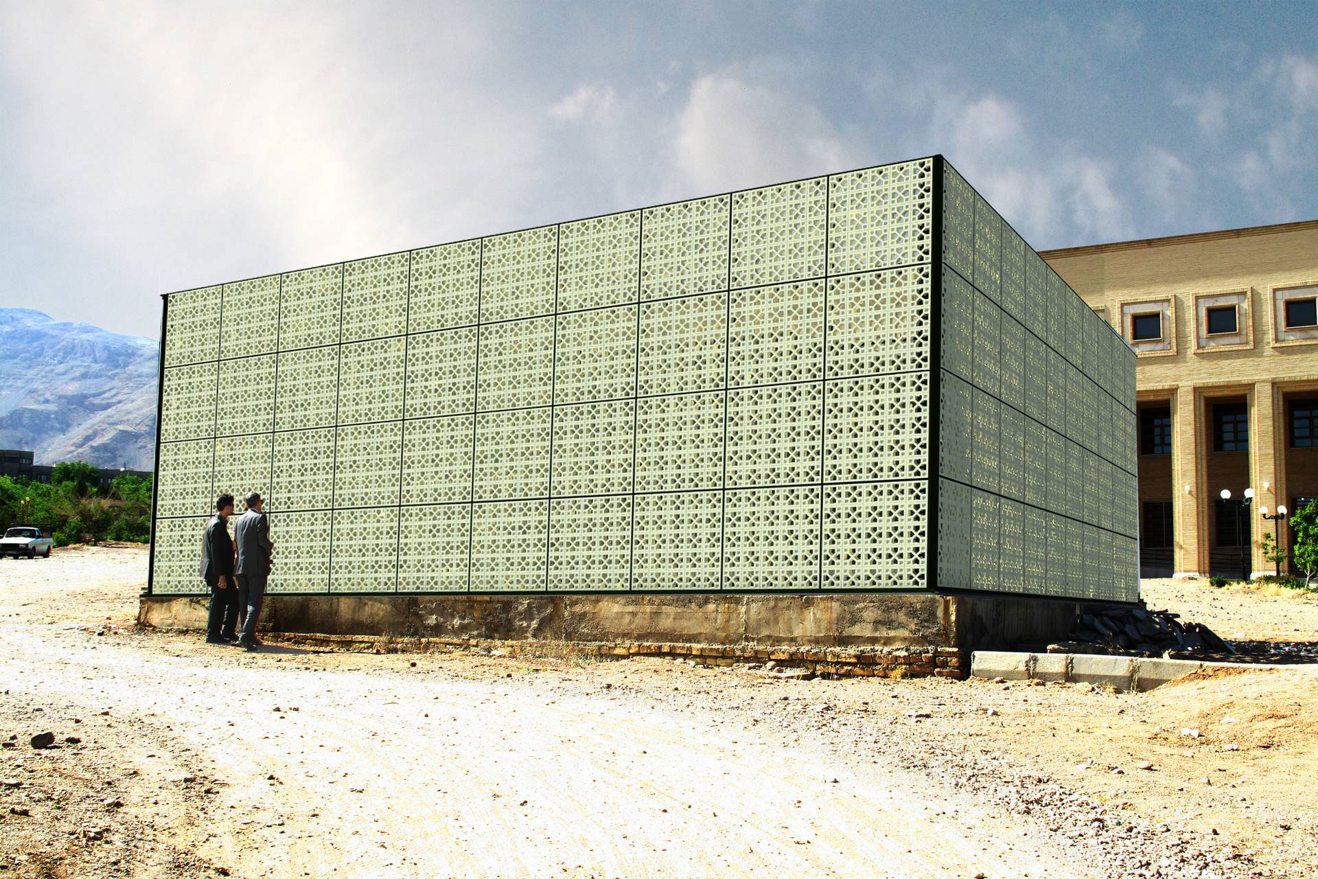 Walls covering the facility